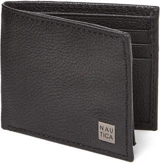Nautica Black Hampton Leather Passcase Wallet