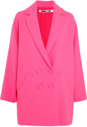 McQ Alexander McQueen - Crepe Coat - Bright pink $885 thestylecure.com