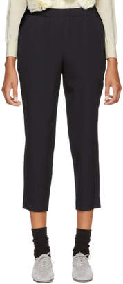 Comme des Garcons Navy Cropped Trousers