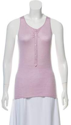 Brunello Cucinelli Sleeveless Lightweight Cashmere Top