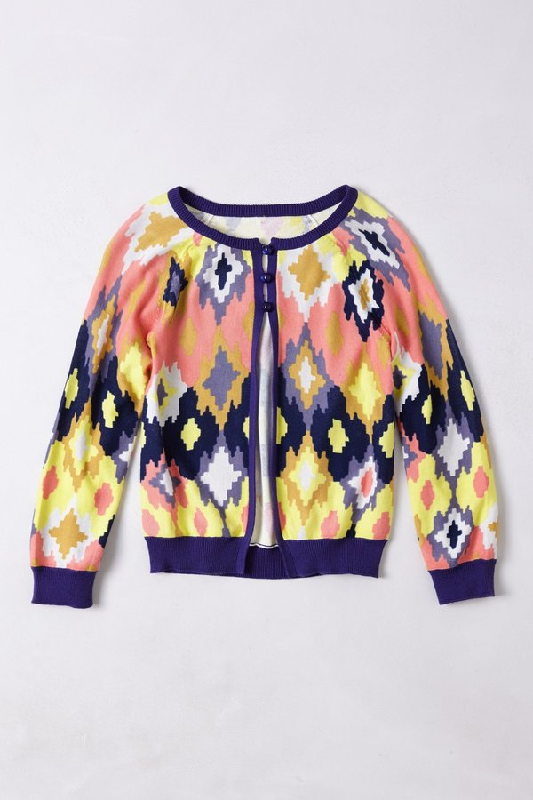 Anthropologie Flickered Ikat Cardigan