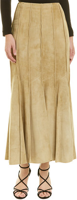 Derek Lam 10 Crosby Seamed Suede Skirt