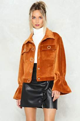 Nasty Gal Ring True Velvet Jacket