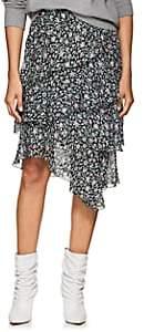 Etoile Isabel Marant Women's Jeezon Ruffle Floral Crepe Midi-Skirt-Black