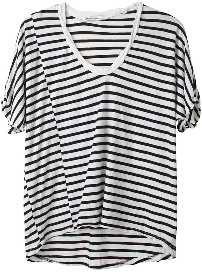 Hope / Striped Boxy Tee