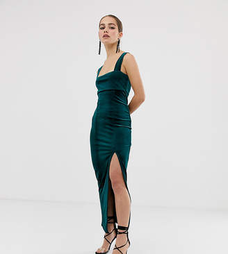 Asos DESIGN Petite velvet square neck maxi dress