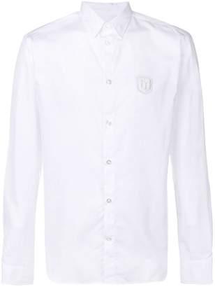 Frankie Morello patch embellished shirt