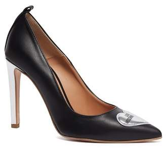 Love Moschino Pointed Toe Slim Heel Pump