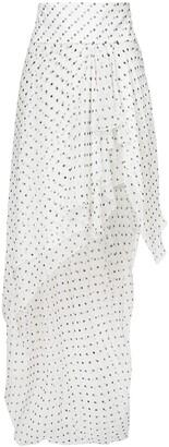 Alexandre Vauthier asymmetric spotted ruffled skirt