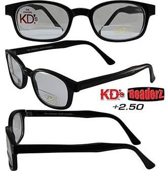 1fd3a3ca7281 clear Pacific Coast Sunglasses The Original KD s Biker Shades By PCSUN  Frames +2.50 Magnification Lenses