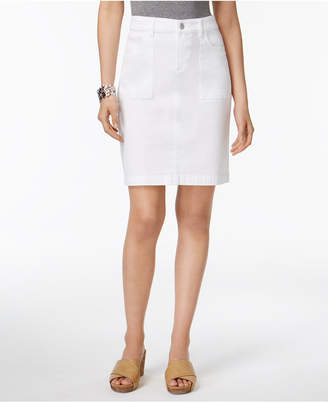 Style & Co Denim Pencil Skirt, Only at Macy's $49.50 thestylecure.com
