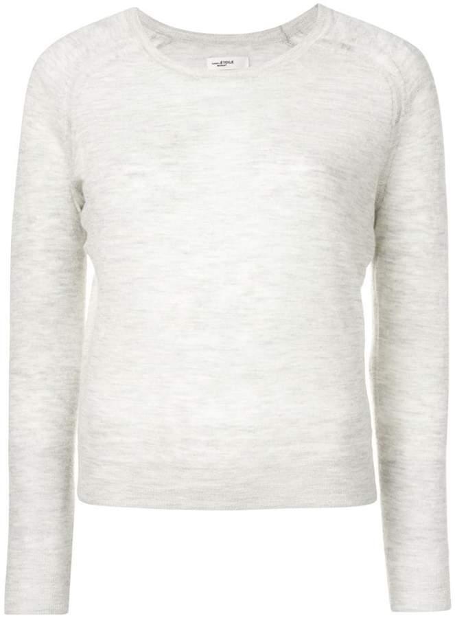 long sleeved melange knit top