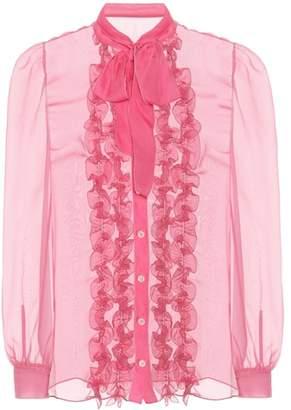 Dolce & Gabbana Silk pussybow blouse