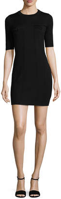 Love Moschino Seamed Wool Dress