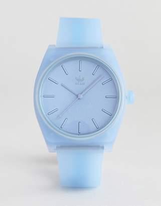 adidas Z10 Skyline Silicone Watch In Blue