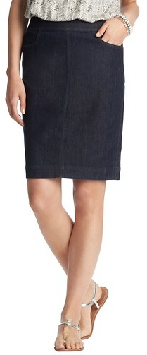 LOFT Denim Pencil Skirt in Dark Rinse Wash