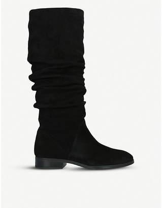Aldo Ligodda ruched suede knee-high boots