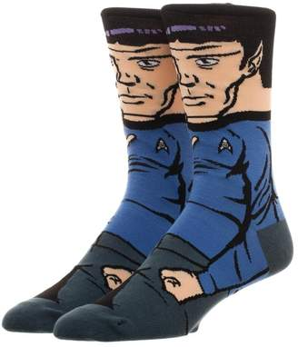 Bioworld Star Trek Spock 360 Crew Socks Character Collection Package Adult Mens One