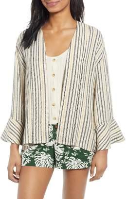 BP Stripe Jacquard Linen Blend Jacket