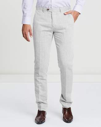 Brooksfield Blended Linen Trousers