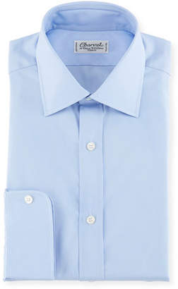 Charvet Poplin Dress Shirt, Blue