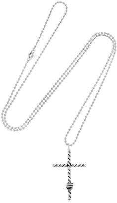 Twisted Cross Pendant Necklace