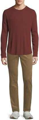 Vince Men's Waffle-Knit Crewneck Shirt