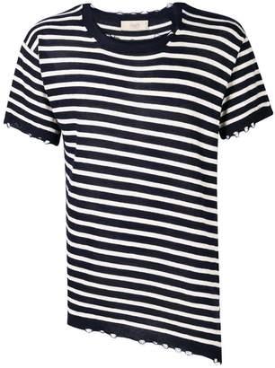 Maison Flaneur striped short-sleeved jumper