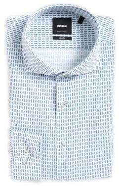 Strellson Sereno Slim-Fit Geometric Dress Shirt
