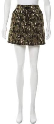Gryphon Metallic Printed Mini Skirt