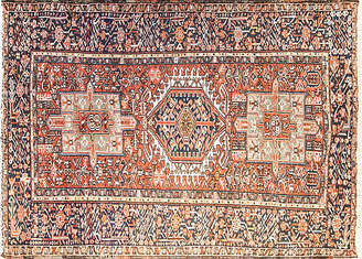 One Kings Lane Vintage Persian Karaja Rug - 4'6 x 6'6