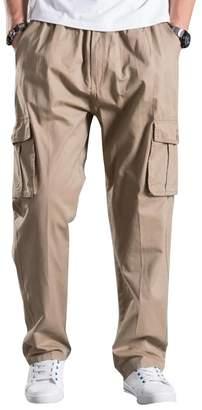 Mesinsefra Men's Full Elastic Waist Cargo Pants 3XL