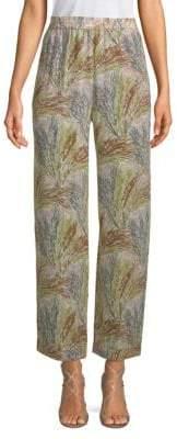 Valentino Printed Silk Wide-Leg Pants