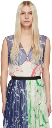 Marina Moscone SSENSE Exclusive Multicolor Silk Print Tank Top