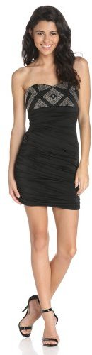 My Michelle Sequin Hearts by Juniors Strapless Empire-Waist Fitted Dress
