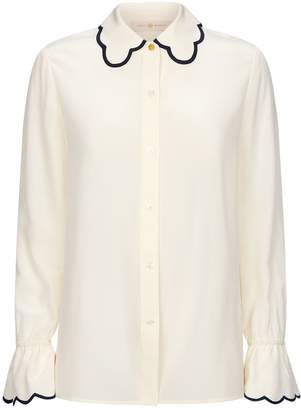 Tory Burch Scalloped Shirt