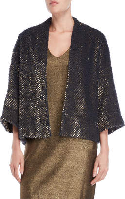 Ottod'ame Sequin Sherpa Robe Jacket