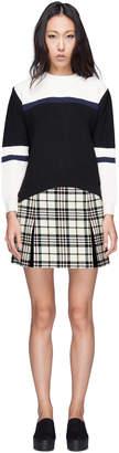 Carven Multicolor Jupe Drap Tartan Wool Skirt