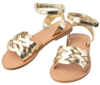 Crazy 8 Metallic Strappy Sandals