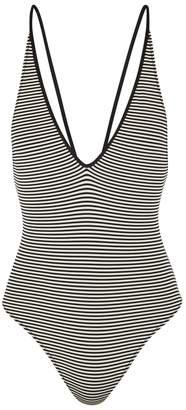 Marysia Swim Harbour Striped Reversible Swimsuit