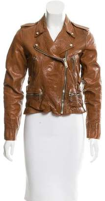 Golden Goose Leather Moto Jacket