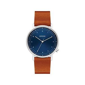 Komono Unisex Adult Analogue Quartz Watch with Leather Strap KOM-W4072