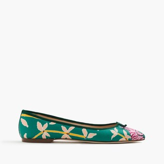 Collection Drake's for J.Crew Gemma flats $128 thestylecure.com