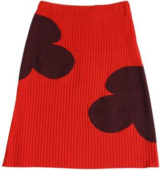 Marni Junior Flower Wool Midi Skirt