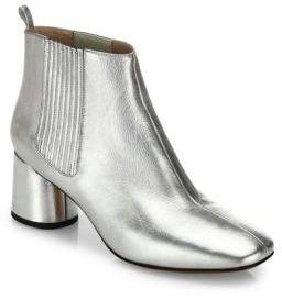 Marc JacobsMarc Jacobs Rocket Metallic Leather Block-Heel Chelsea Booties