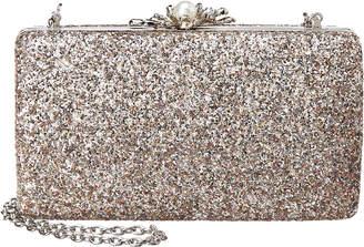 Sondra Roberts Glitter With Pearl Clasp Clutch