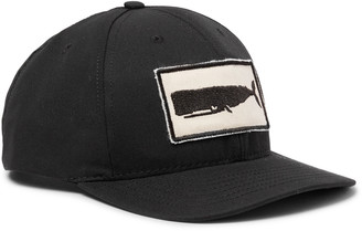 Mollusk - Appliqued Cotton-Twill Baseball Cap - Men - Black
