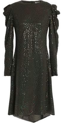 Nina Ricci Embellished Silk-Georgette Dress
