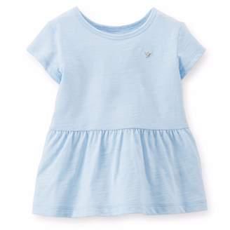 Carter's Girl's Short Sleeve Cotton Peplum Tee