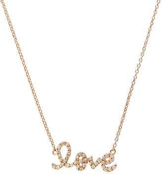Sydney Evan Love Script Necklace